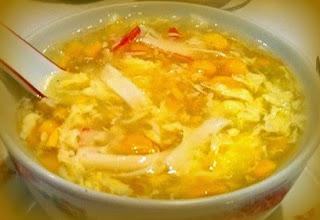 Sopa de maíz y cangrejo