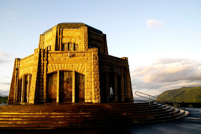 Columbia River Gorge, Vista House, Portland, Historic Columbia River Highway, US 30, sunset, sundown