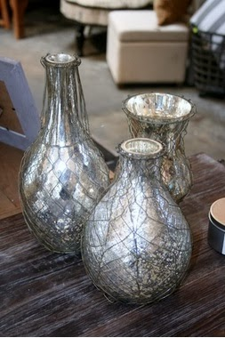 Le Garage Wire Mesh Mercury Vases