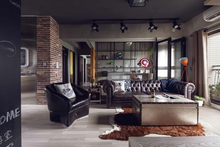marvel heroes themed industrial house in taiwan by hao interior design studio home img