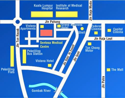 Sentosa Medical Centre location map