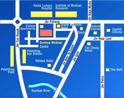 Sentosa Medical Centre location map