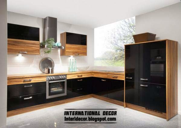 Modern Black Kitchen Designs, Ideas, Furniture 2015