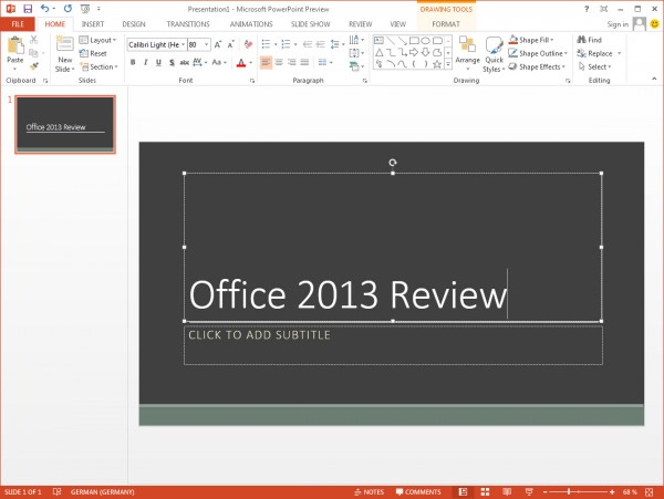 PowerPoint 2013 600x451 Microsoft Office Pro Plus 2013 Full + Crack Full Version Free Download