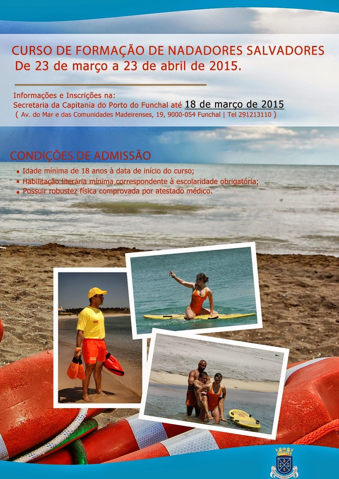 Curso de formação de nadadores salvadores no Funchal