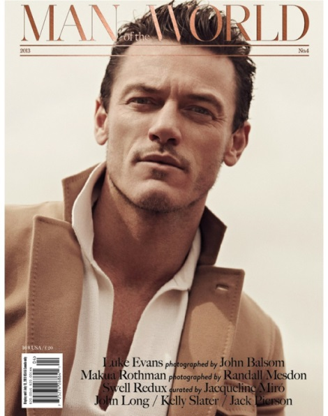 Luke Evans' Man of the World Magazine Cover