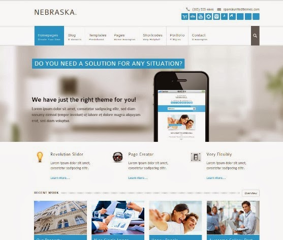 Nebraska Responsive Multi-Purpose WordPress Theme