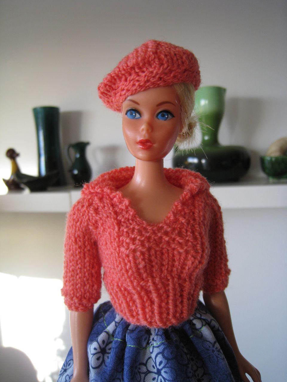 Barbie Knitting Patterns : Best Barbie Knits: New Pullover with Sailor Collar