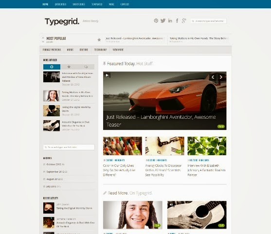 Type & Grids Responsive HTML5 Template