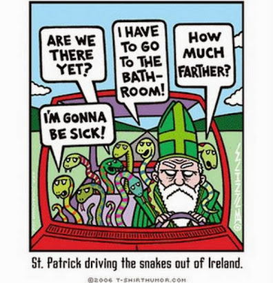 St. Patrick's Day is nearly upon us, lads an' lassies! And it's easy to be green!