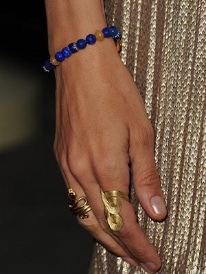 Uma Thurman Gold Cocktail Ring
