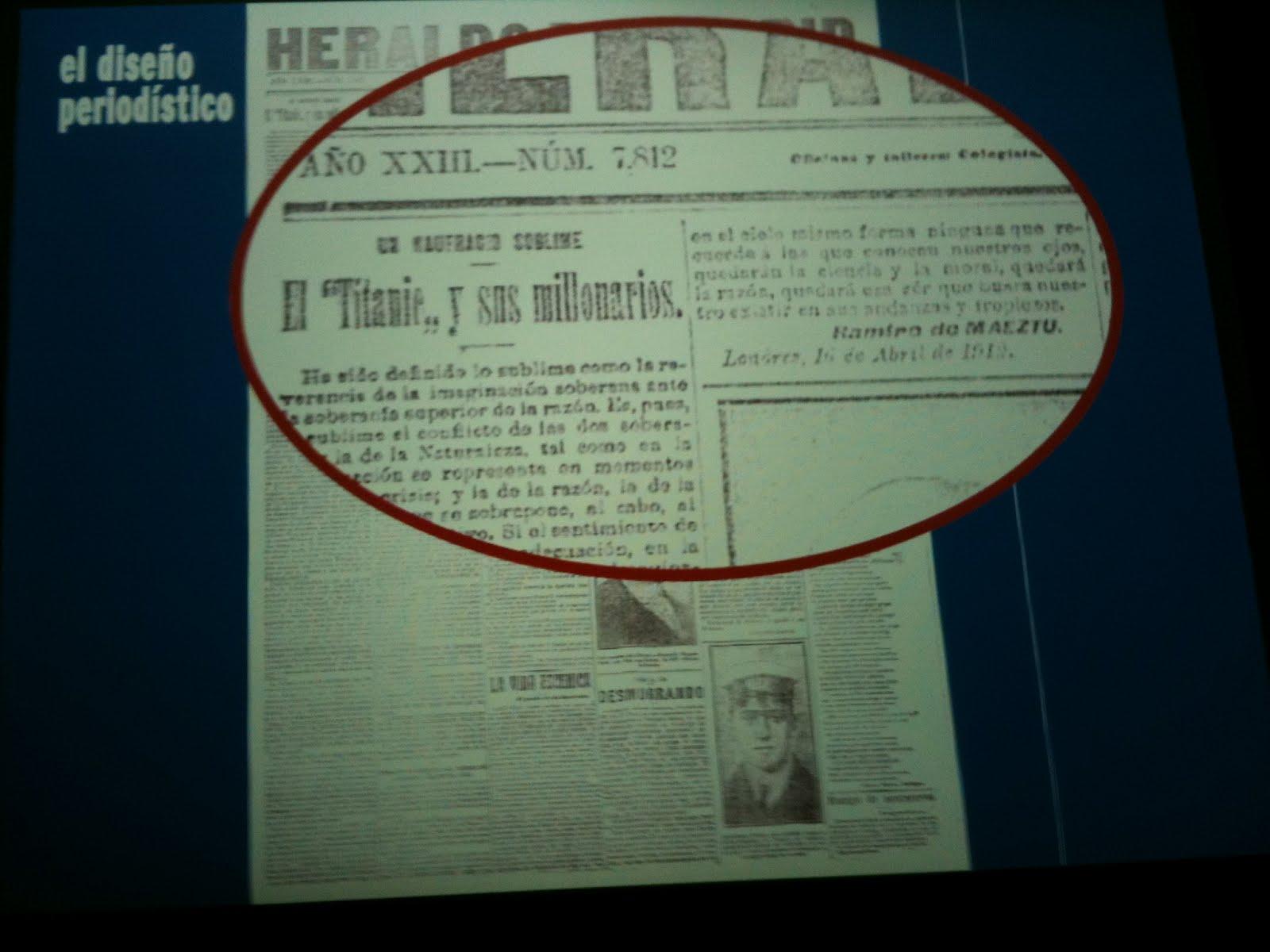 encajabaja   Diseño periodístico, Prensa: Noticias del \'Titanic\'