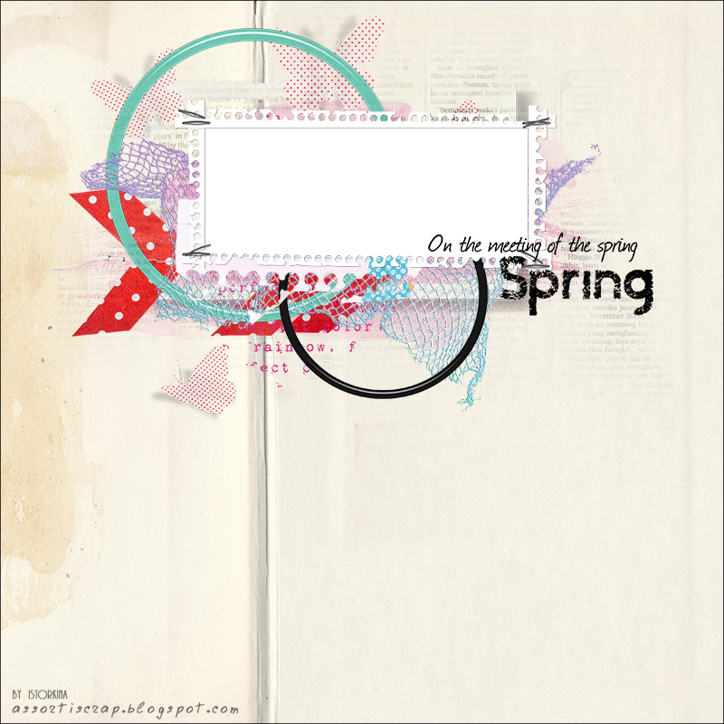 Скетч для странички - апрель