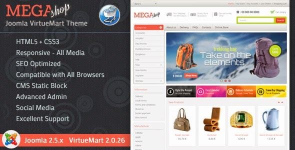 Mega Shop VirtueMart Theme