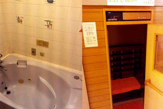 Sauna and jacuzzi in the Aloha Inn