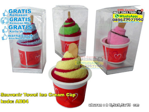 Souvenir Towel Ice Cream Cup grosir
