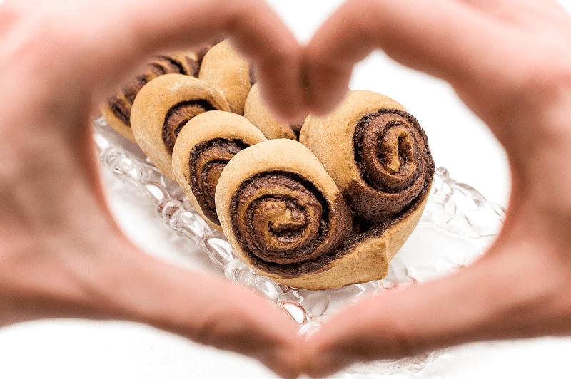 Nutella hearts look thru hand heart