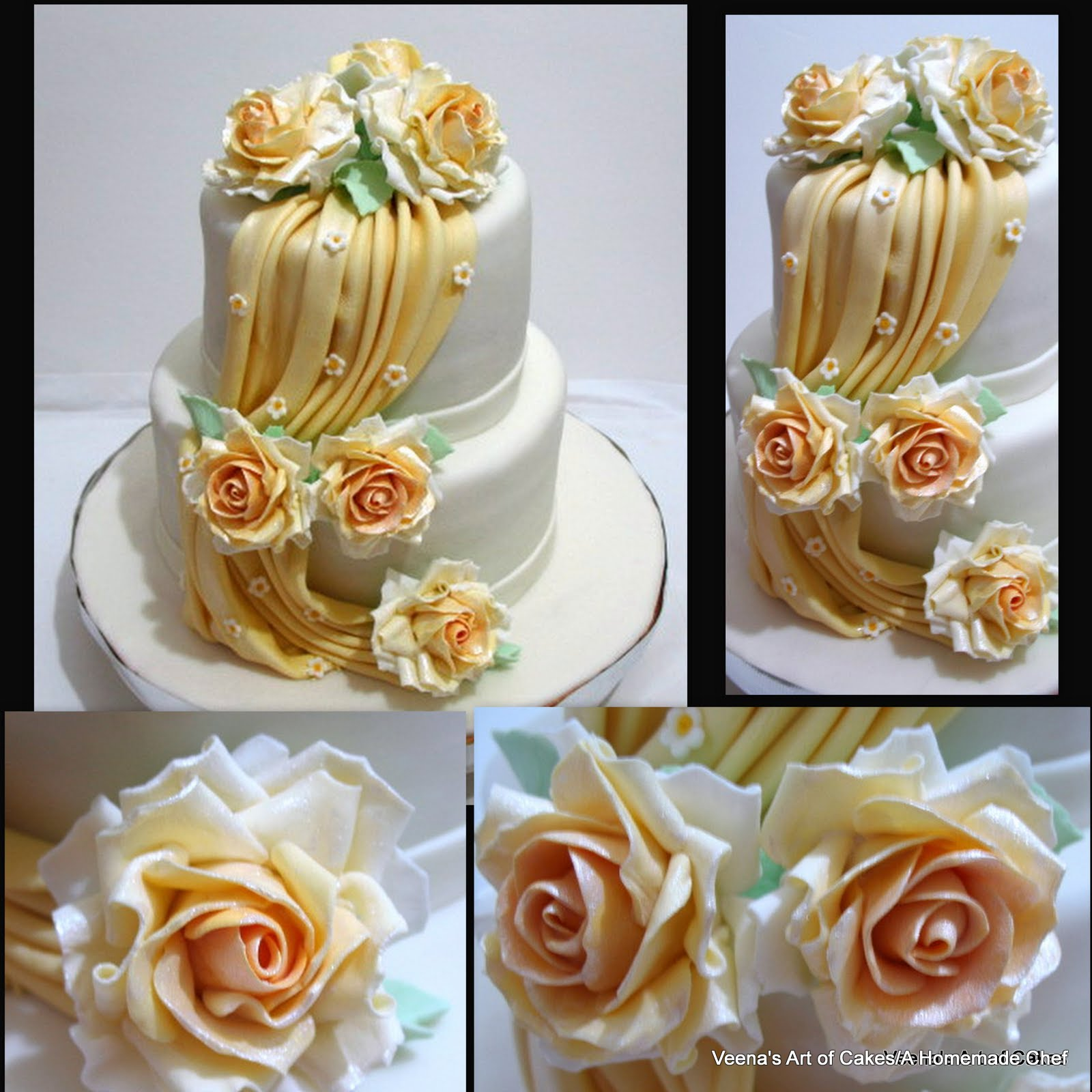 Veena's Art of Cakes: How to make gumpaste Drapes and A ...