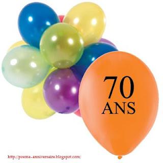 Poème pour anniversaire 70 ans