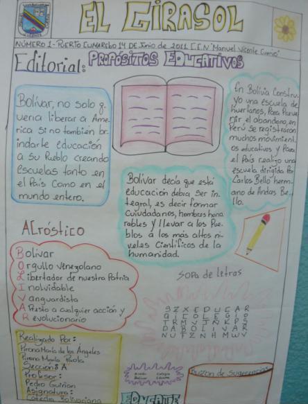 Unidad educativa nacional manuel vicente cuervo for Como elaborar un periodico mural