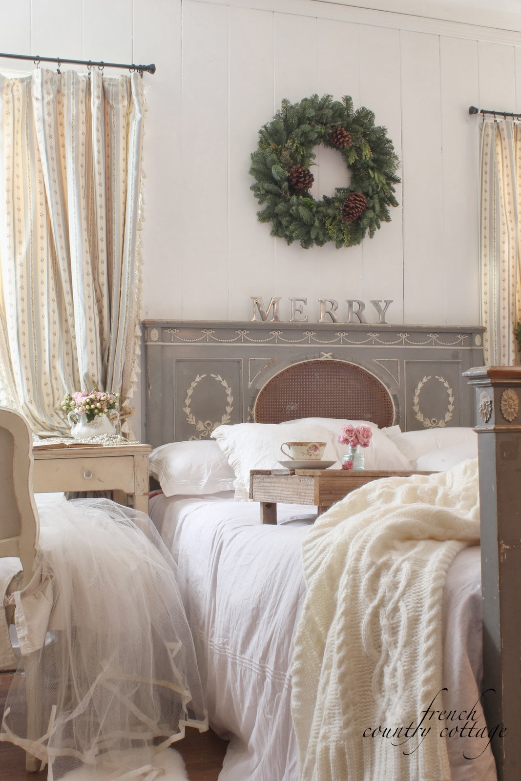 Christmas in the little cottage french country cottage for Country cottage bedroom
