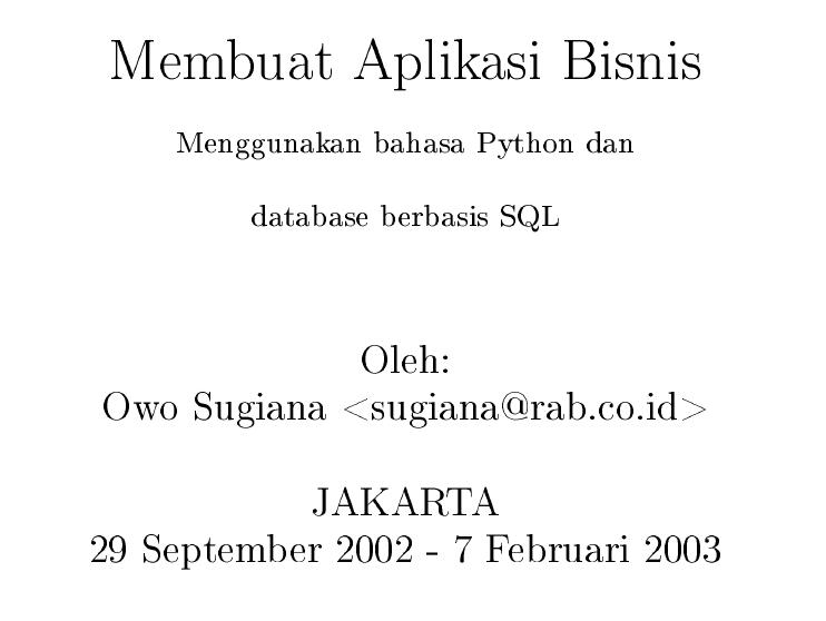 Ebook: Python untuk Pemula