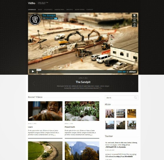 Vidiho - WordPress Video Theme