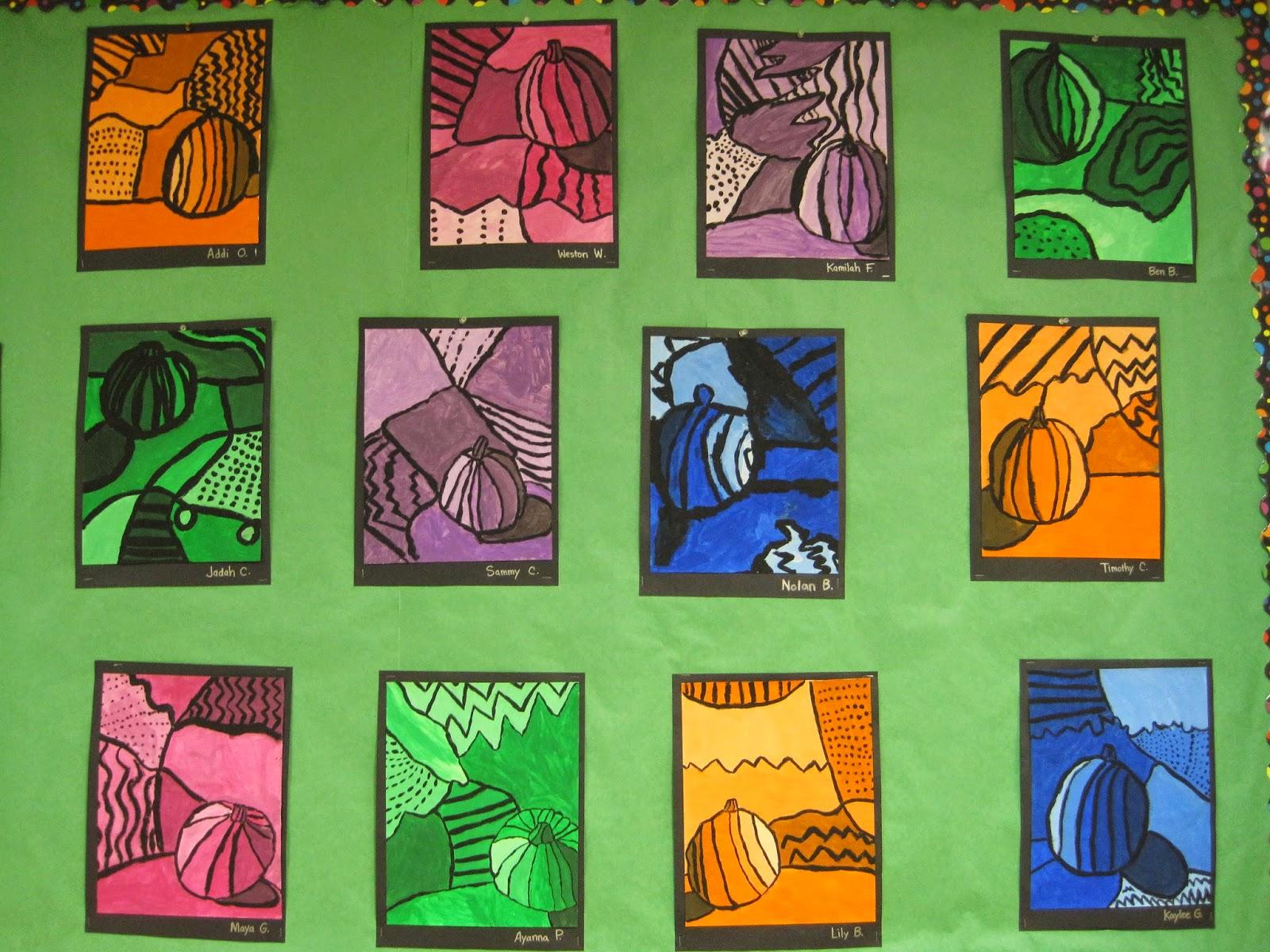 zilker elementary art class 4th grade still life bulletin board