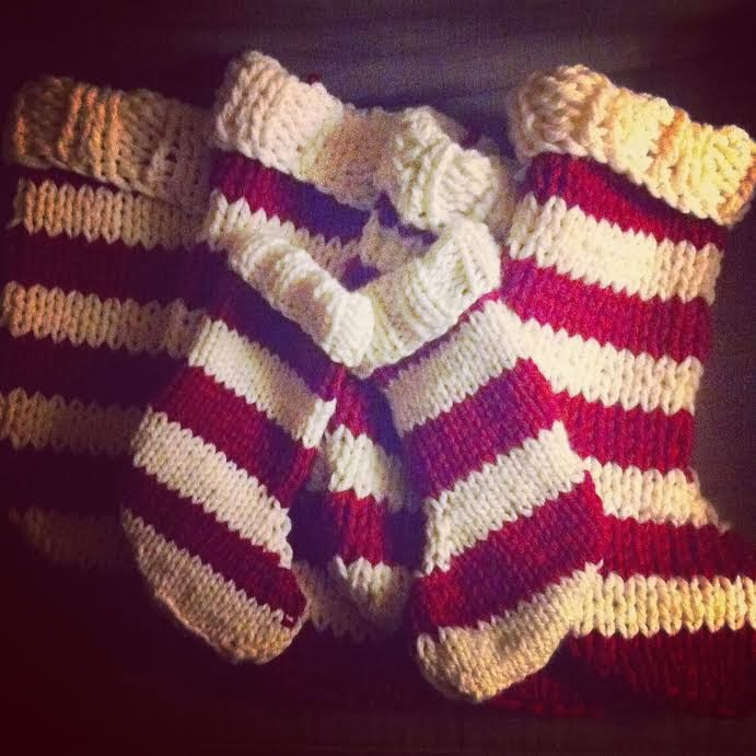 Knit Christmas stocking free pattern