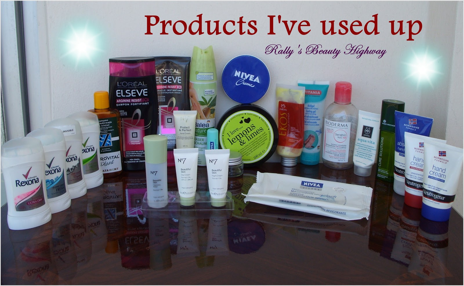 Beauty, Cosmetics, Empties