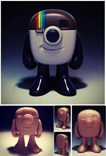 Instagram App Logo Vinyl Figure by JC Rivera
