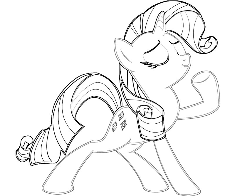 coloring pages rarity - baby rarity coloring pages the image