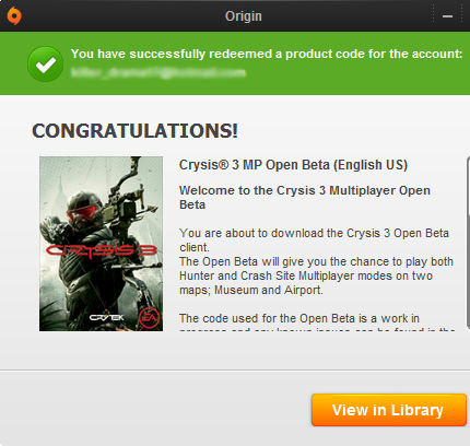 Free Crysis 3 Beta Keys [Full Download] Working on 2013!