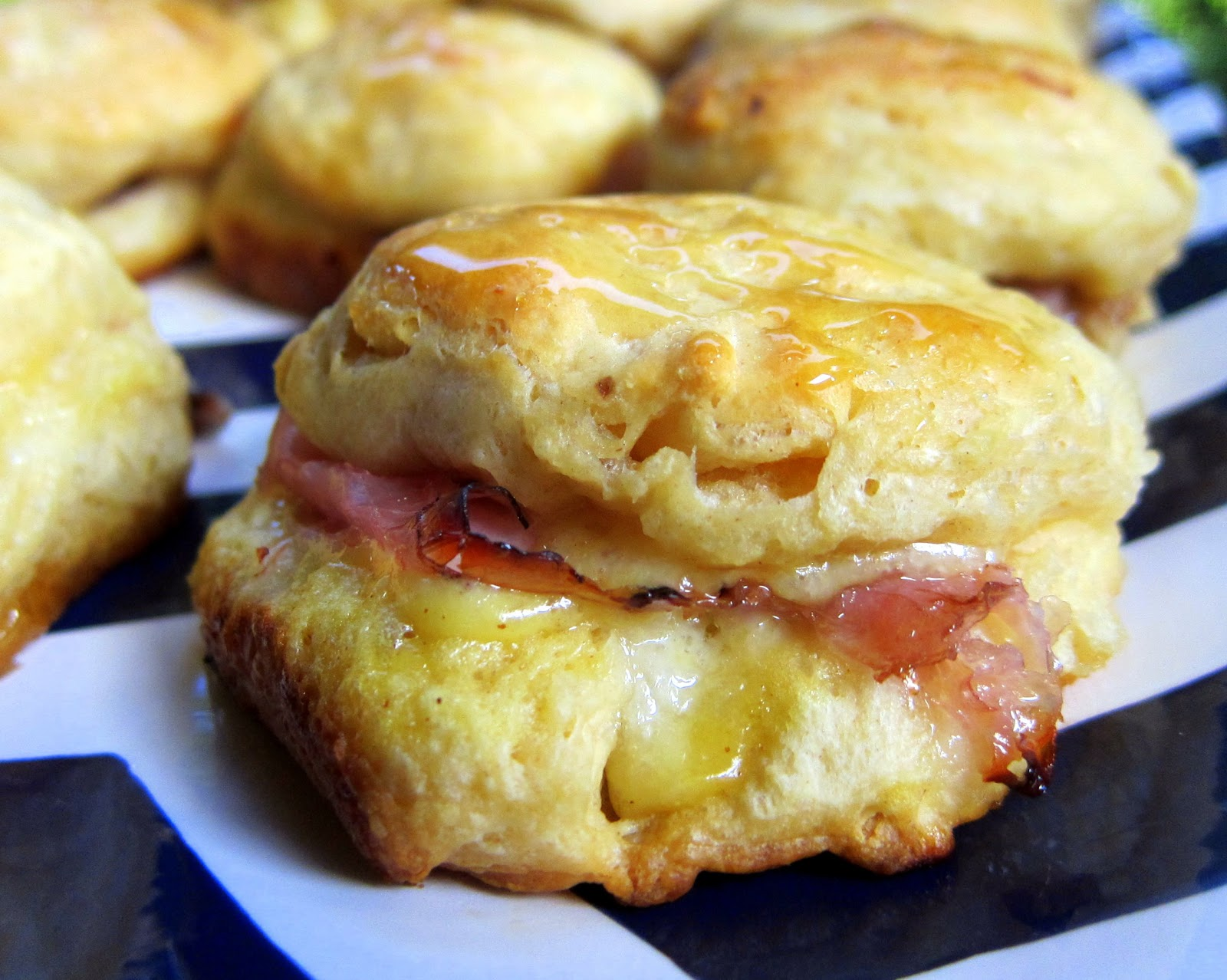 Ham Biscuit Sliders Recipe - refrigerated biscuits, stuffed with ham ...