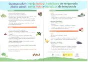 Gana salud: come frutas y hortalizas de temporada