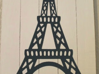Eiffel Tower Wood Shim Art