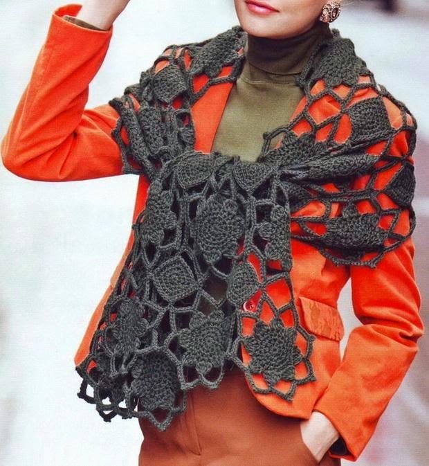 Patrones de chal al crochet