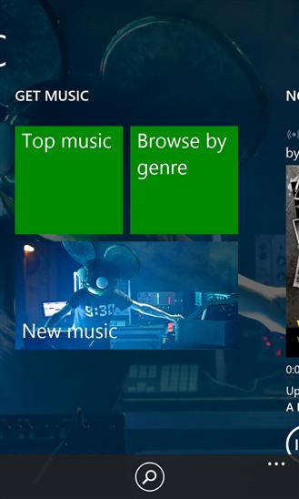 Xbox Music app on Nokia Lumia 928