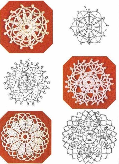 Granny Squares, cuadrados a crochet patrones   Tejedorita