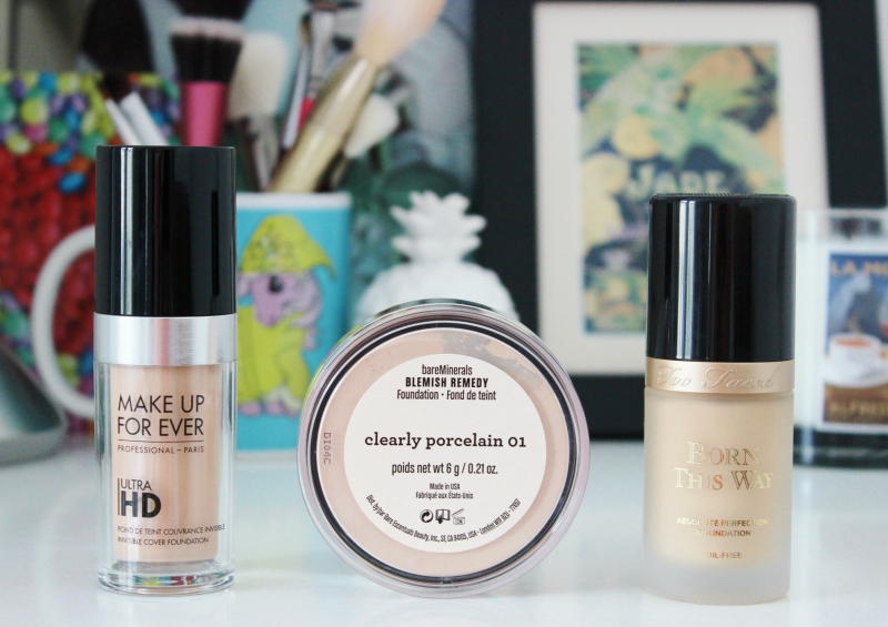 3 new foundations from Makeup Forever, Bare Minerals and Too Faced
