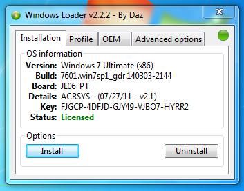 what is daz loader in windows 7