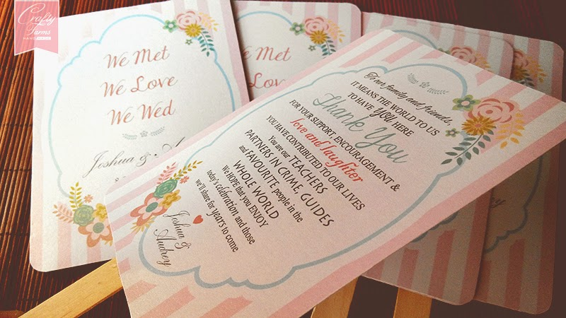 Sweet Floral Fan Wedding Stationery