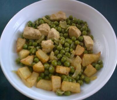 Guisantes Salteados con Tofu