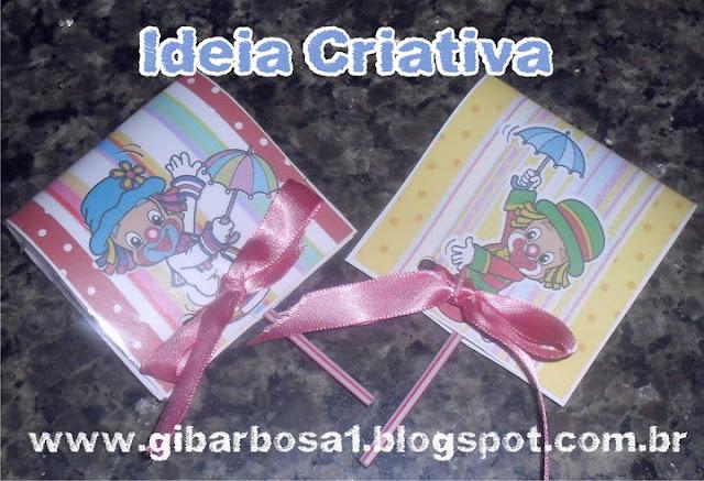 Pirulito Personalizado Patati Patatá Lembrancinha Dia do Circo