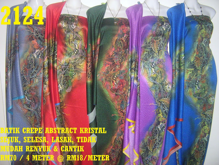 2124: BATIK CREPE ABSTRACT KRISTAL,  4 METER
