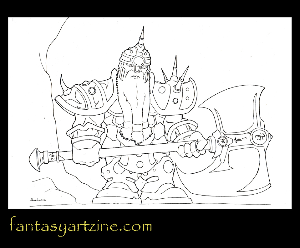 How to Draw Dwarf Warrior WoW