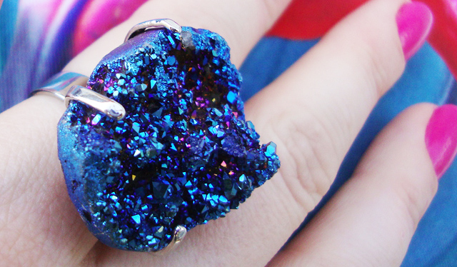 crystal, ring, jewellery, blue
