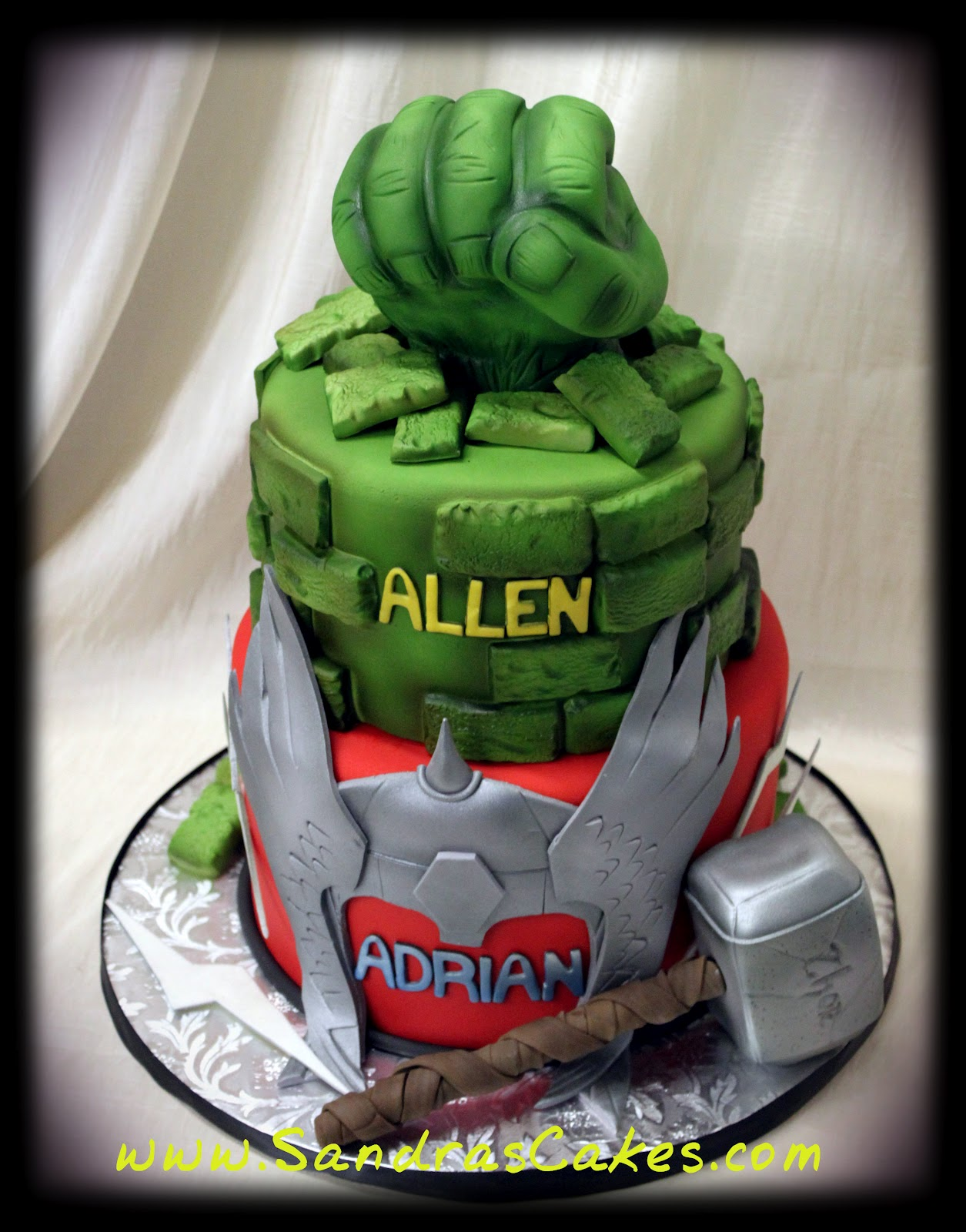 Hulk and Thor Birthday Cake