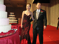 The newlyweds Dennis and Li Hong