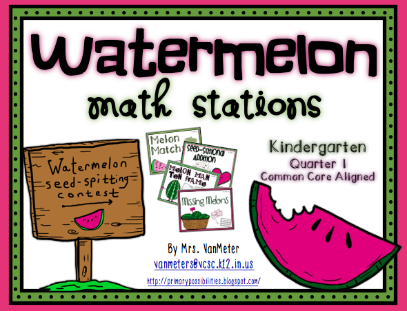 http://www.teacherspayteachers.com/Product/Watermelon-Math-Stations-715172